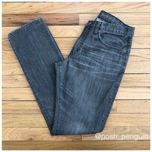 "Gap Premium Slim Straight Grey Jeans 32""x32"""